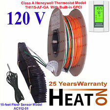 MULTIPLE 120V Electric Radiant Warm Floor Heating System + GFCI AUBE Thermostat