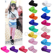 Girls Kids Solid Candy Colors Footed Stockings Leggings Ballet Dance Tight-Pants