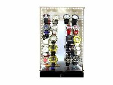 Watch display acrylic  two sided rotating led   F0003