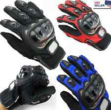 Motorcycle Gloves Motorbike Carbon Fiber Pro-Biker Bike Racing ATV Full Finger