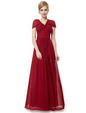 Ever Pretty Elegant Red Long Bridesmaid Christmas Formal Dress 08456 US Seller