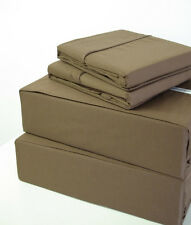 Sale Egyptian Cotton 1000TC 4PC Bed Sheet Set (All Sizes Available) Taupe Solid
