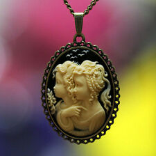 Big Size Fairy Cameo Pendant Necklace Top Handcraft