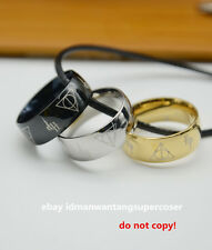 Harry Potter ring HP 7 Stainless Steel rings 3 colors