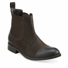 Clarks Wallace Cap BT Men's Chelsea Boot Leather 62223 Brown