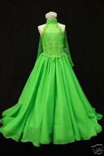 Green Pageant Wedding Flower Girl Formal Party Long Dress 3 4 5 6 7 8 10 12 14