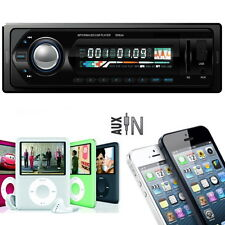 Car Audio Stereo In-Dash FM MP3 Player USB SD input AUX Receiver with Remote DX