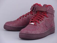 NIKE WOMENS AIR FORCE 1 HI FW QS SHANGHAI DEEP BURGUNDY 704010-600  FASHION WEEK