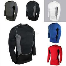 New Mens Compression Under Base Layer Tops Tight Long Sleeve T-Shirts Collection
