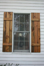 Wooden Handmade rustic-barn style-vintage look House Exterior Window Shutters
