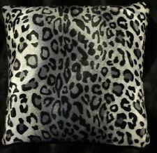 Snow Leopard Throw Pillow Cover Set of (2)   Faux Fur Animal Print Pillow