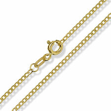 375 9CT YELLOW SOLID GOLD DIAMOND CUT CURB LINK CHAIN PENDANT NECKLACE GIFT BOX