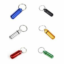 Hot Aluminum Waterproof Six Color Pill Box Case Bottle Cache Key-chain Container