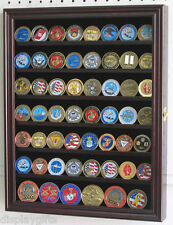 Poker Chip, Antique, Bullion, Coin Display Case w/ glass door, Solid Wood COIN56