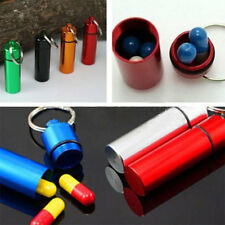 High Quality Aluminum Waterproof Pill Box Case Drug Holder Container Key-chain