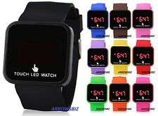 New Digital LED Touch Screen Wrist Watch Unisex Men Women Kids School Boys Girls