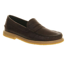 Mens Ask the Missus Long Beach Crepe Penny BROWN NUBUCK Casual Shoes
