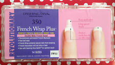 Dashing Diva French Wrap Plus Box 350 Tips Double Wide Thick/Thin Manicure