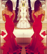 Sexy Evening MAXI Wedding Party Prom Gown Formal Cocktail Mermaid Fishtail Dress