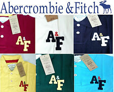 A&F Abercrombie & Fitch by Hollister.2014 Cotton Polo Collar Regular T-Shirt Tee