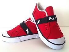 "New Polo Ralph Lauren Youth Boys Shoes ""Gardener"" - Red-  - L@@K!"