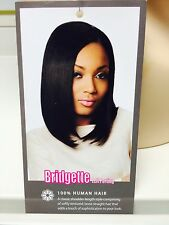 SLEEK  CLASSIC BOB HUMAN HAIR WIG WITH  LEFT PARTING ---FREE WIG CAP
