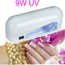 9W UV Nail Lamp Polish Dryer Gel Acrylic Curing Light Kit 110-230V 4 Plug 4xLamp