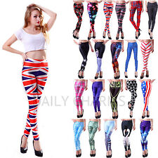 Womens Sexy Design Printed Pattern Digital Graphic Stretch Leggings Tight-Pants