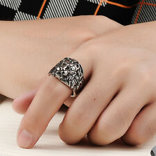 Men's Stainless Steel lion King Ring Size 7-11 cool band rings