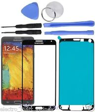 Black Outer Front Glass Screen Replacement For Samsung Galaxy Note 3
