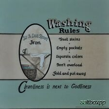 "LS711 Vintage Washing Rules Linda Spivey 10""x10"" framed or unframed print art"