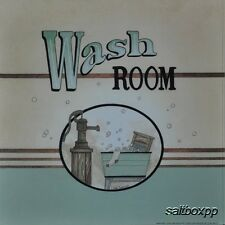 "LS708 Vintage Wash Room Linda Spivey 10""x10"" framed or unframed print art"
