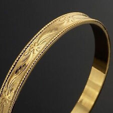 NEW 18K YELLOW,ROSE GOLD FILIGREE BANGLE 8MM WIDTH WITH WARRANTY - MASSIVE SALE!