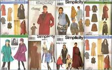 Simplicity Sewing Pattern Coats Jackets Misses Winter Outerwear You Pick
