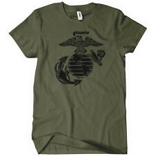 US Marine Corps Mens T-Shirt United States Military Troops Support Semper Fi Tee