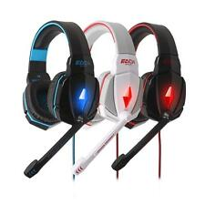 PC Games Stereo 3.5mm Gaming Headphone Headset Headband With Mic Volume Control