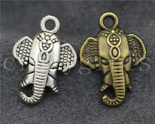 15/30pcs Zinc alloy Lovely elephant head Charm Pendant Fit Jewelry Making 24mm