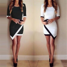 Stylish Womens Bandage Bodycon Asymmetric Evening Sexy Party Cocktail Mini Dress