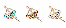 18K YG Plated 78 x 48mm Dancing Girls Brooch made with Swarovski Crystals