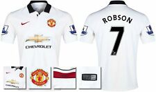 *14 / 15 - NIKE ; MAN UTD AWAY SHIRT SS + PATCHES / ROBSON 7 = SIZE*