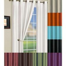 Solid Faux Silk Grommet Window Curtain Panel 58 by 84 Inch Many Colors Available