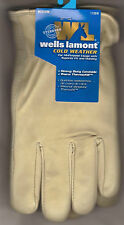 Men's Grain Cowhide Leather Winter Heavy Duty Work Gloves Thermofill Lined NWT