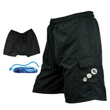 US STOCK Men's Cycling Bicycle Bike Padded Coolmax Loose Fit  Shorts Underwear