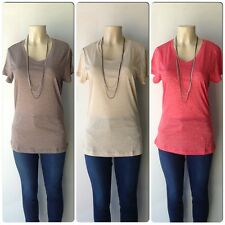Plus Size Juniors Casual V-Neck Short Sleeves Top in Heathered Melange Colors