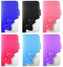 Bow High Quality Leather Wallet Book Case Cover For Apple iPhone 4 4s 5 5s 6
