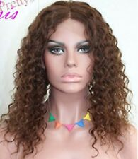 14-24inch Malaysian Kinky Curly 100% Indian Remy Human Hair Full/ Front Lace Wig