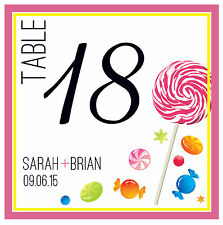 10 Custom Table Numbers - Wedding/Shower - Personalized - Food (90+ Designs!)