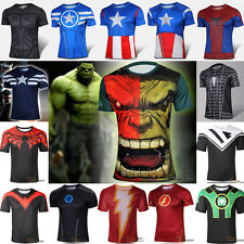 Marvel Comics Short Sleeve T-shirt Winter Soldier Casual Blouse Muscle Tees Tops