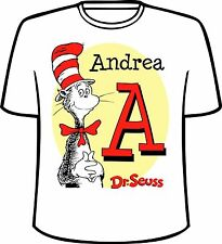 Many Tee Colors-Personalized Dr. Seuss Name and Initial T-Shirt