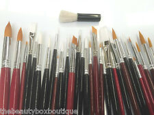 FACE PAINTING BRUSHES - HIGH QUALITY ROUND AND FLAT TIP ART PAINT BRUSH GLITTER